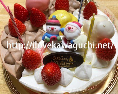 川口市の洋菓子店で買ったクリスマスケーキ カタログ