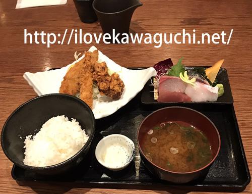 武蔵浦和駅徒歩1分駅ビル、MAREマーレ さいたま市南区 魚料理、阿久根魚鈎アクネウオカギ 【ランチ】