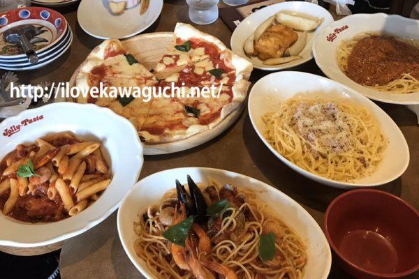 ジョリーパスタ 川口並木元町店 パスタ、ピザを食べました